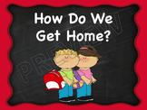 Transportation How Do We Get Home Chart