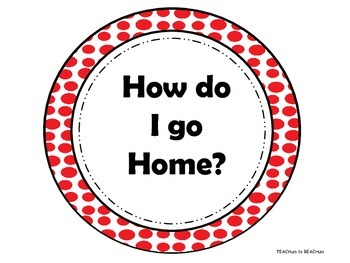 Transportation: How do I go Home - Red Polka Dot