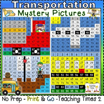 Transportation Hundreds Chart Fun Pack