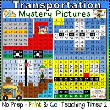 Transportation Hundreds Chart Fun Pack
