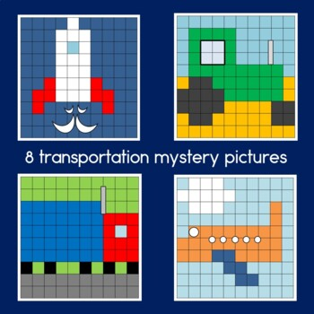 Transportation Hundreds Chart Mystery Pictures