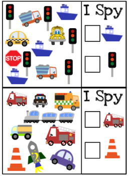 Transportation I Spy Cards