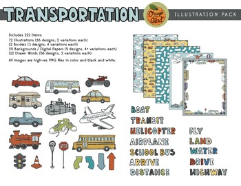 Transportation Illustration Pack