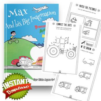 Max and his Big Imagination - Transportation Activity Book