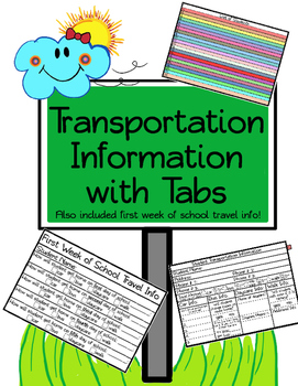 Transportation Information with Tabs