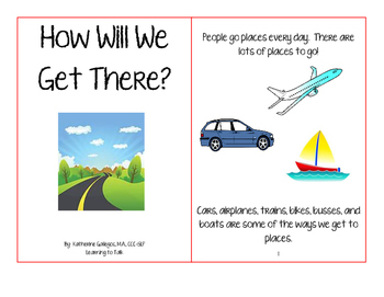 Transportation Interactive/Adapted Book
