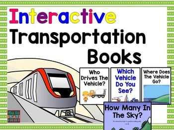 Transportation Interactive Books