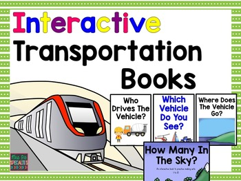 Transportation Interactive Books