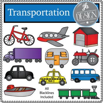 Transportation (JB Design Clip Art for Personal or Commercial Use)