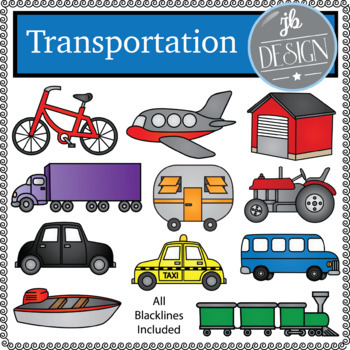 Transportation (JB Design Clip Art for Personal or Commercial Use)
