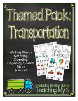 Themed Pack: Transportation