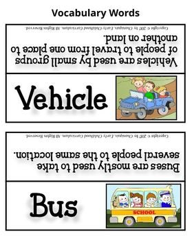 Transportation (Thematic Unit 8)
