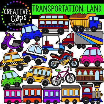 Transportation: Land {Creative Clips Clipart}