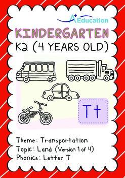 Transportation - Land (I): Letter T - K2 (4 years old)