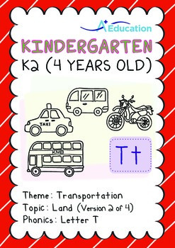 Transportation - Land (II): Letter T - K2 (4 years old)