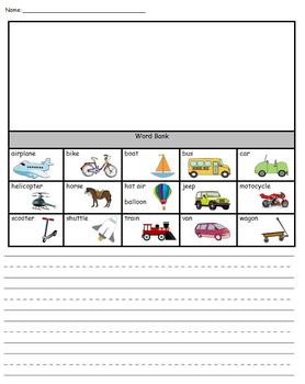 Transportation Language Arts & Phonics Pack