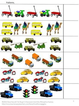 Transportation Lapbook, Preschool, Kindergarten, Autism, Special Education