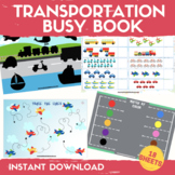 Transportation Learning Binder Preschool Center Activities