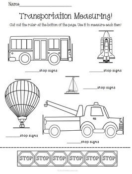 Transportation Activity Set K-1 Math Literacy Games Puzzles Centers Writing