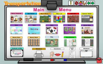 Transportation  Lesson - Power Point Interactive Lesson - No Prep