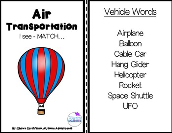Transportation Leveled Adapted Book Set (sped/autism/elementary)