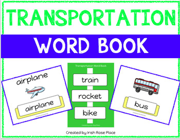 Transportation Leveled Word Books (Adapted Books)