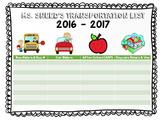 Transportation List
