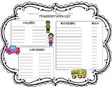 Transportation List Form