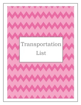 Transportation List (Two color choices)
