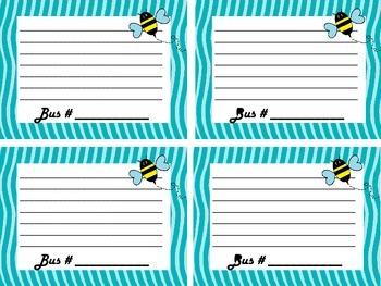 Transportation Lists, Bee Theme