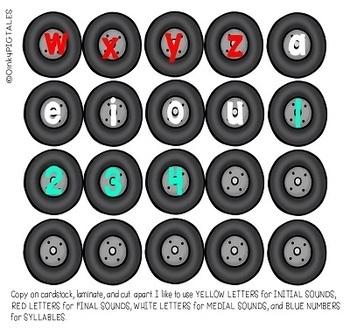 Year Long Alphabet Activities for PreK and Kindergarten Transportation Theme