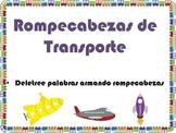 Transportation Literacy Vocabulary Spanish