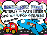 Transportation Theme pack- Literacy & Math Fun, Printables, Center Games, CCSS