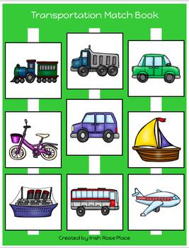 Transportation Match Book (Adapted Book)