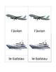 Transportation Matching Cards French Montessori