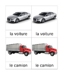 Transportation Matching Cards French Montessori