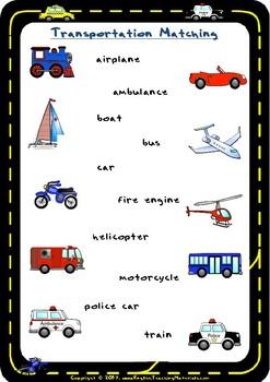 Transportation Matching | FREE Worksheet