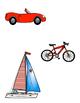 File Folder Game--Matching Transportation Items