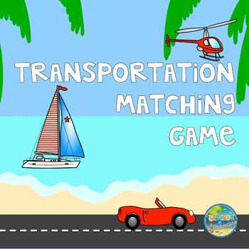 File Folder Game--Matching Transportation Items