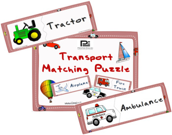 Transportation Matching Game | Puzzle