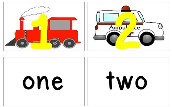 Transportation Matching Number to Number Word
