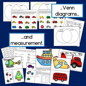 Transportation Math (Graphing, Sorting, Venn Diagrams and Measurement!)