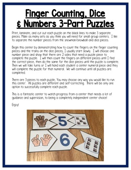 Transportation Math Centers: Number Sense for Preschool, PreK & K