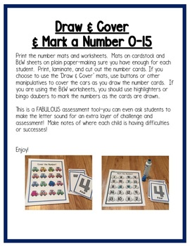 Transportation Math Centers: Numbers for Preschool, PreK & K