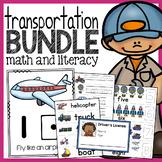 Transportation Unit - Math and Literacy Activities