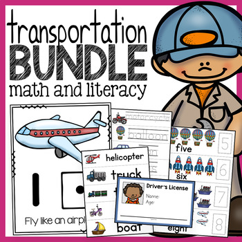 Transportation Unit - Math and Literacy Activities