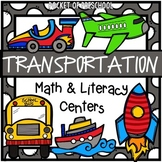 Transportation Math and Literacy Centers for Preschool, Pr