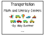 Transportation Math and Literacy Centers