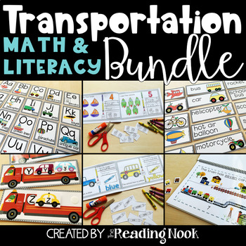 Transportation Math and Literacy Bundle