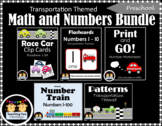 Transportation Math and Numbers Bundle for Preschool